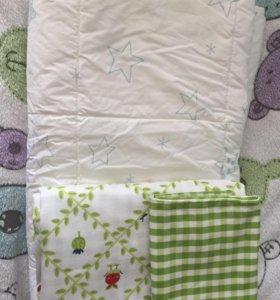 Детское одеяло и комплект постельного белья IKEA
