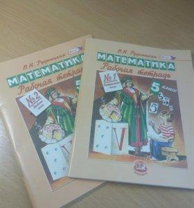 Рабочие тетради по математике 5 класс 1 и 2 часть