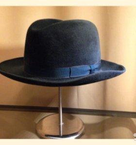 Винтаж шляпа мужская натуральный велюр 50-е Чехия