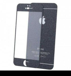 Защитное стекло iPhone 5 Diamond черное перед/зад
