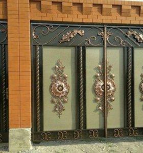 Ворота из прочного материала