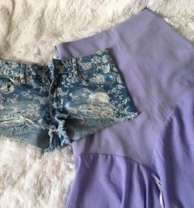 шорты деним юбка