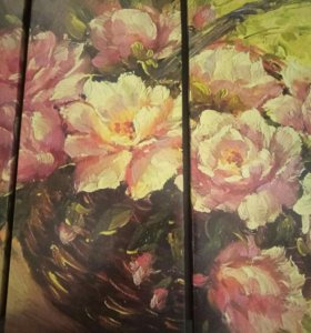 Модульные картины - цветы.