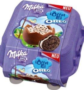 Milka яйца с печеньем Oreo