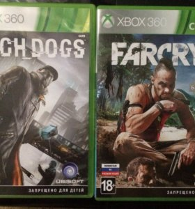Xbox 360 игры Watch Dogs , Far Cry 3