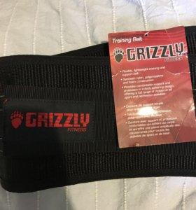 Пояс атлетический Grizzly на липучке