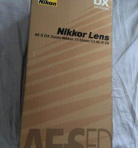 Профессиональный Обьектив Nikon 17-55mm 2.8
