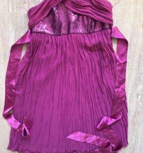 Платье сарафан BGN на выход цвет фуксии в о/с M