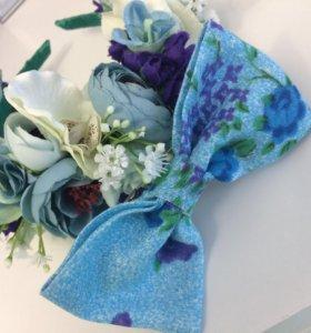 Венок из цветов,ободок,бабочка галстук