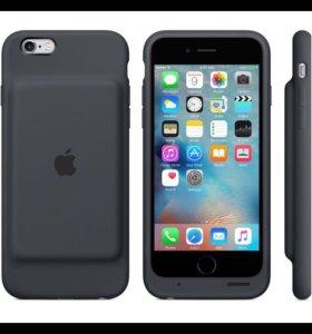 Чехол для iPhone 6s apple smart battery case черны