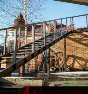 Изготовление и монтаж металлокаркаса, лестниц