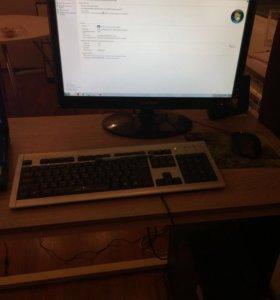 Компьютер ( монитор + системник + клавиатура )