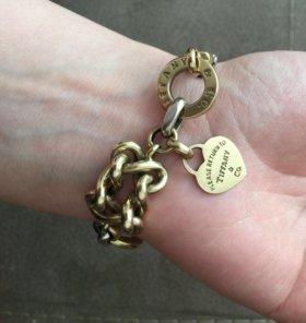 Золотой браслет Tiffany&Co