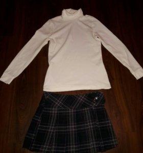 Гольф и юбка. На школу.