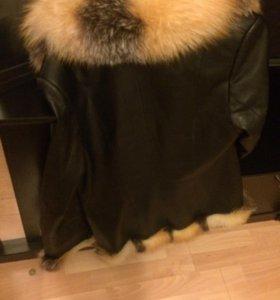 Кожаная куртка с мехом