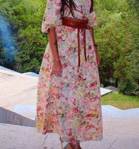 Платье в пол (пояс отдам в подарок 🎁)