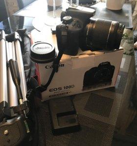 Продам новый фотоаппарат Canon 100D + аксессуары