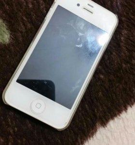 Телефон айфон 4s 8gb бронирование стекло.чехлы