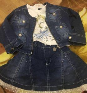 МЕГА крутой джинсовый костюм для девочки