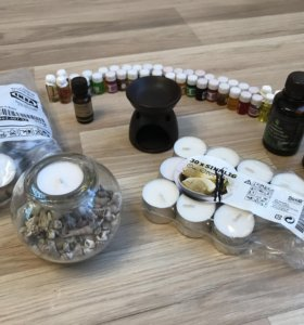 Арома набор с подсвечником, арома лампой и маслами