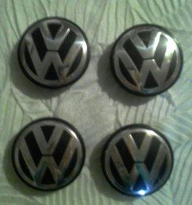 Оригинальные заглушки от литых дисков фольксваген