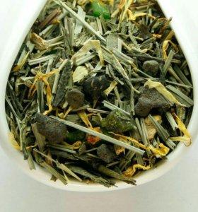 Чай зеленый листовой Лайм-Женьшень