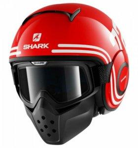 Новый шлем Shark Raw / Drak - 72 Red(S)