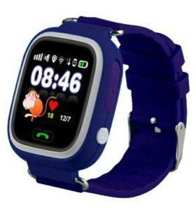 Детские умные часы Baby Watch Q80, синие