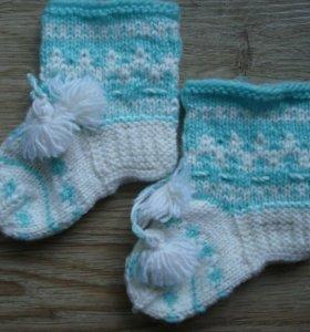 Вязаные детские носочки унисекс