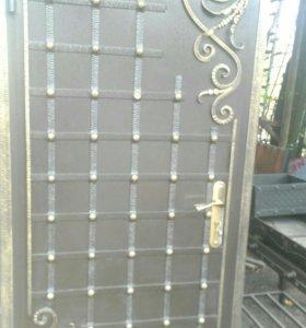 Ворота двери металлические фермы. Качели и многое