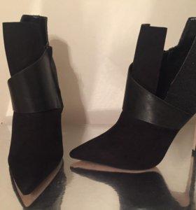 Ботильоны чёрные туфли