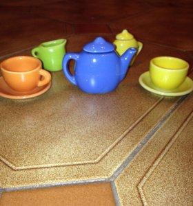 Керамический кукольный набор посуды
