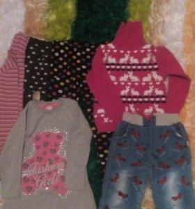Вещи для девочки рост 104 -110-116