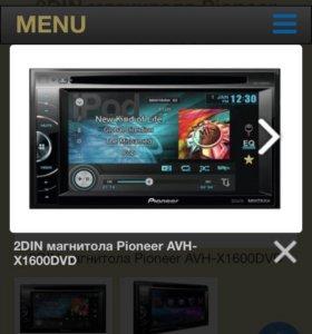 Магнитола pioneer avh- x1600dvd