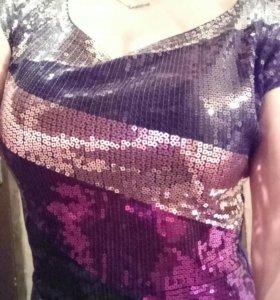 Платье с паетками мини или туника