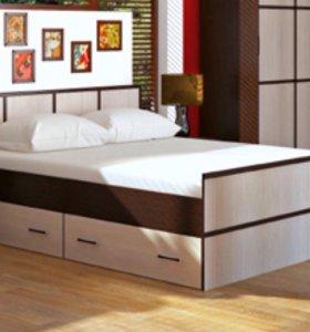 Новая двуспальная кровать с ящиками. 160х200х60