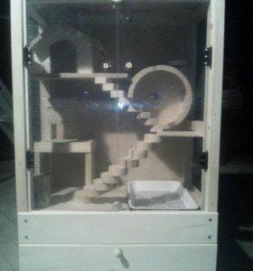 Клетка-домик для грызунов