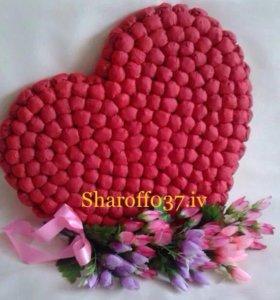 Сердце из гофробумаги