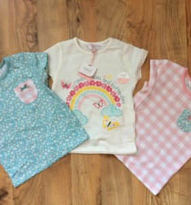 Новые футболочки для девочек 2-3 года