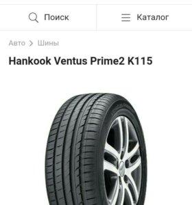 Б/у Летнию резину Hankook Ventus Prime 2 K115