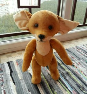 Авторская игрушка лисичка 42 см