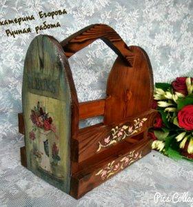 Ящик из массива сосны