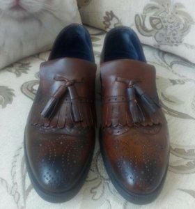 Ботинки, туфли, лоферы, кожа, новые!