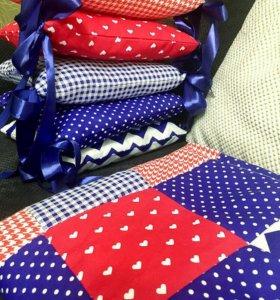 Бортики и одеяло новые