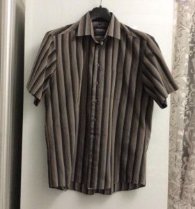 Муж. рубашка с коротким рукавом 41-42