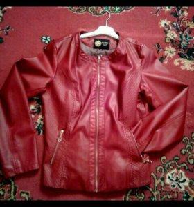 кожаная курткая
