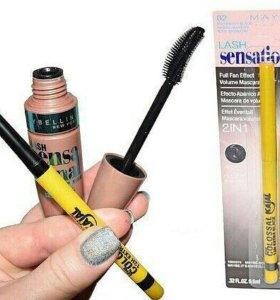 Тушь+карандаш