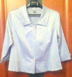 Серо-голубой пиджак JAMET с рукавами 3/4 р.52-54