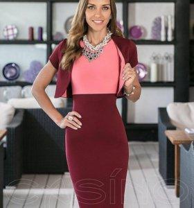 Платье бордо (новый товар)