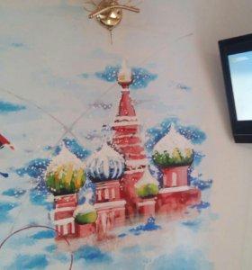 Роспись стен.